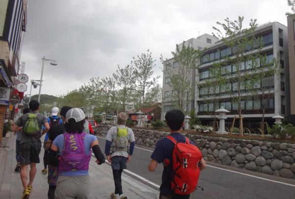 先日完成したばかりの若宮大路を横目に鶴岡八幡宮まで