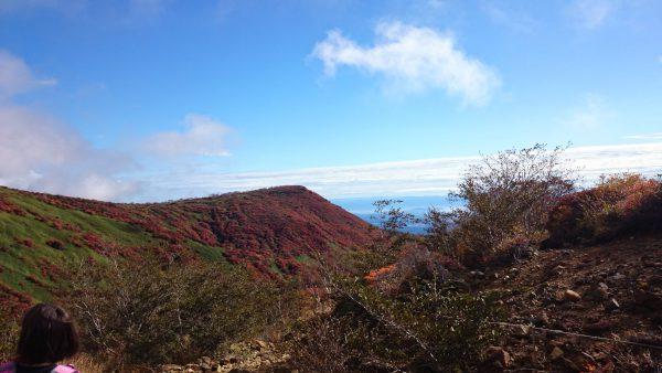 登山口より30分ほどで視界が開けてきました。