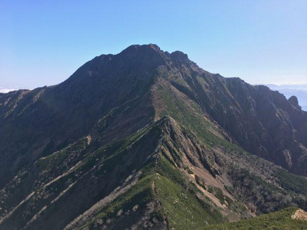 阿弥陀岳から赤岳の眺め