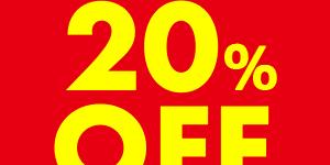 【緊急セール:メンバーズバッグ会員限定】9月2日(水)-6日(日)メルマガで20%OFF スペシャルクリアランス(全店)